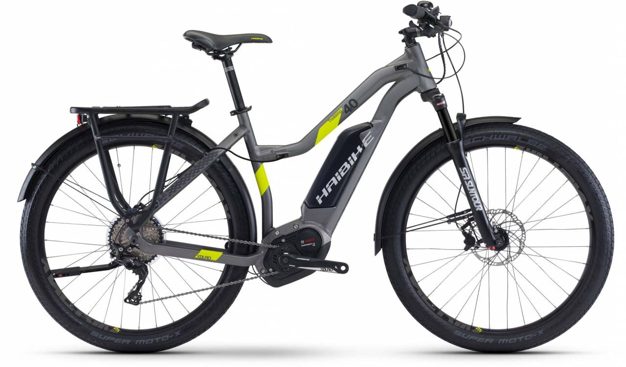 Haibike XDURO Trekking 4.0 500Wh titan/lime matt 2017 - Damen Trapez E-Bike Trekkingrad