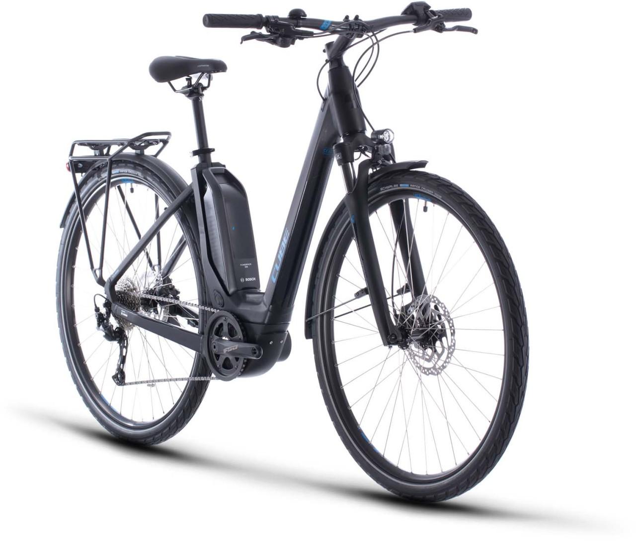 Cube Touring Hybrid ONE 500 black n blue 2020 - E-Bike Trekkingrad Tiefeinsteiger
