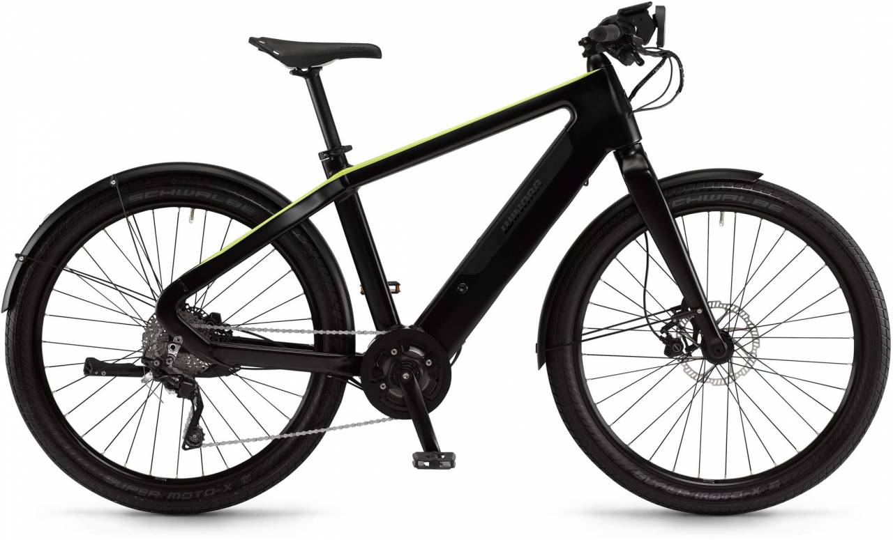 "Winora radar urban 500Wh 27.5"" schwarz/grün matt 2017 - Herren E-Bike Fitnessrad"