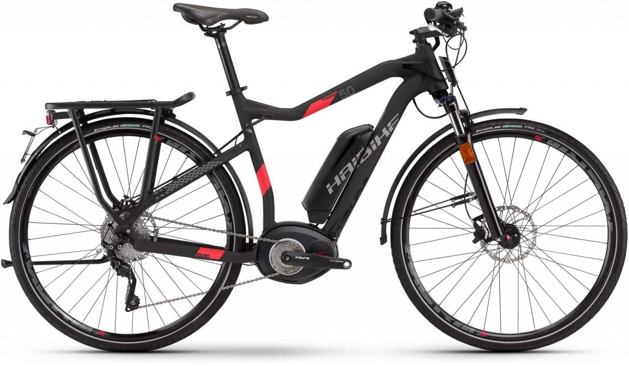 Haibike XDURO Trekking S 5.0 500Wh schwarz/rot matt 2017 - Herren E-Bike Trekkingrad