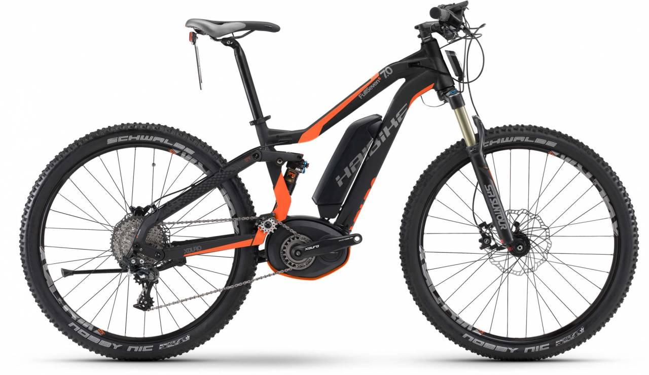 Haibike XDURO FullSeven S 7.0 500Wh schwarz/orange matt 2017 - E-Bike Fully Mountainbike