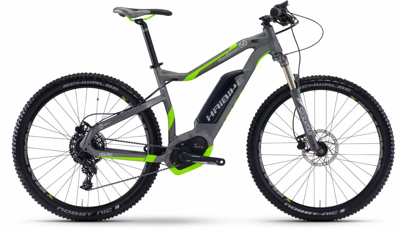 Haibike XDURO HardSeven 5.0 500Wh titan/neon grün matt 2017