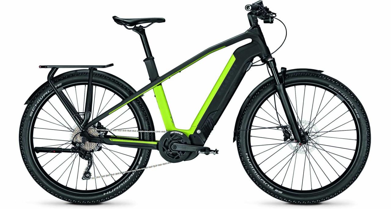Kalkhoff Entice 7.B Move magicblack/integralegreen matt (Diamond) 2021 - E-Bike Trekkingrad Herren