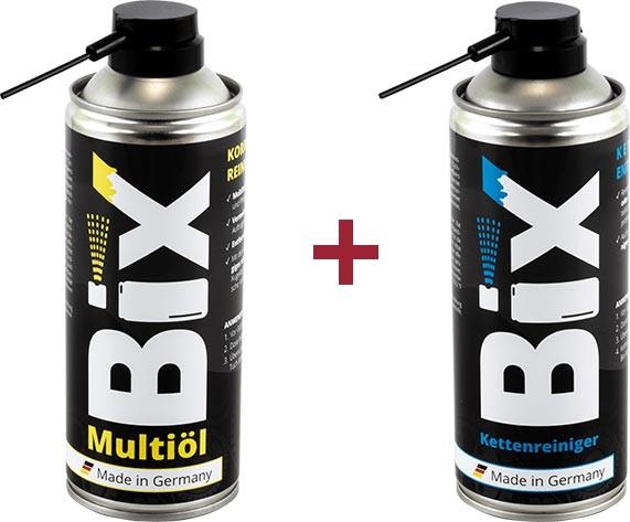 Bix Multiöl 400 ml + Bix Kettenreiniger 400 ml