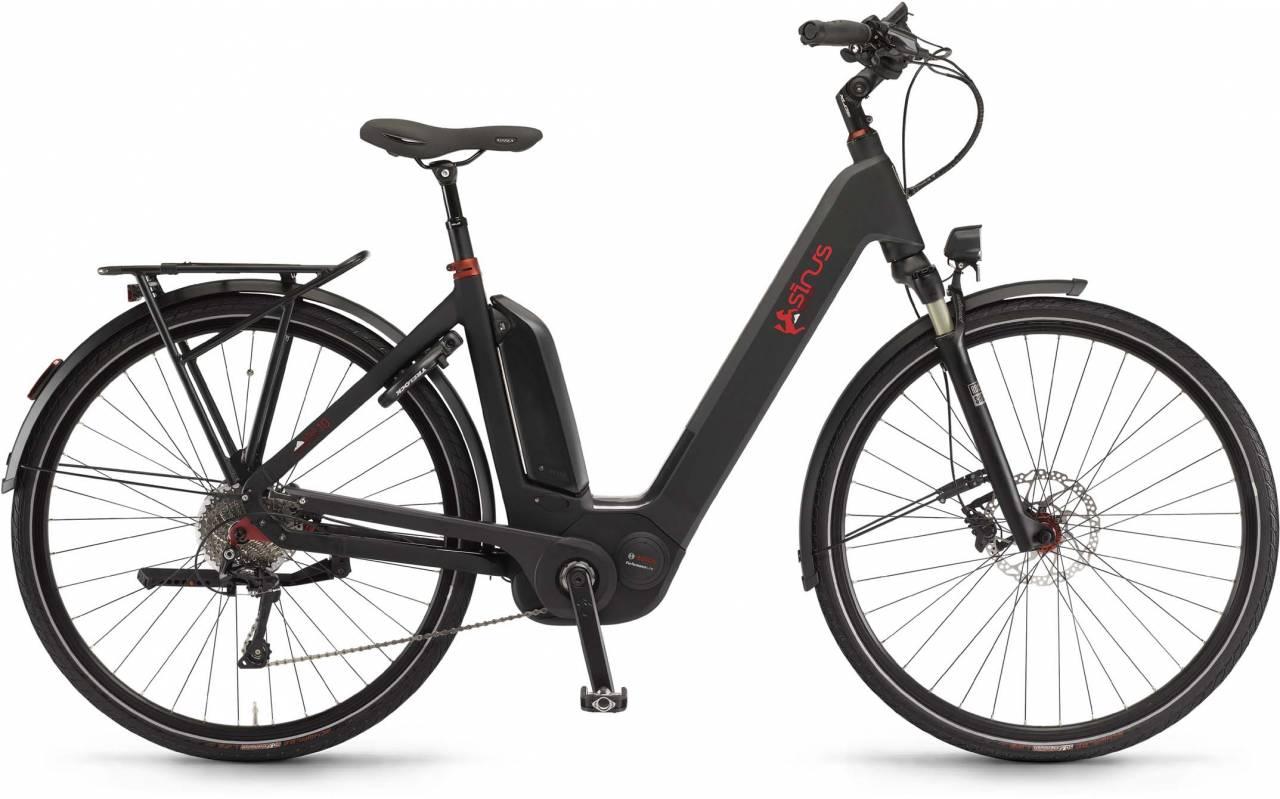 """Sinus Ena10 500Wh 28"""" schwarz matt 2017 - Tiefeinsteiger E-Bike Trekkingrad"""
