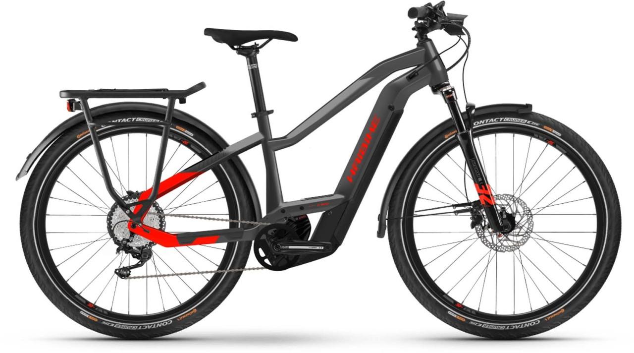 Haibike Trekking 9 i625Wh anthracite/red 2021 - E-Bike Trekkingrad Damen