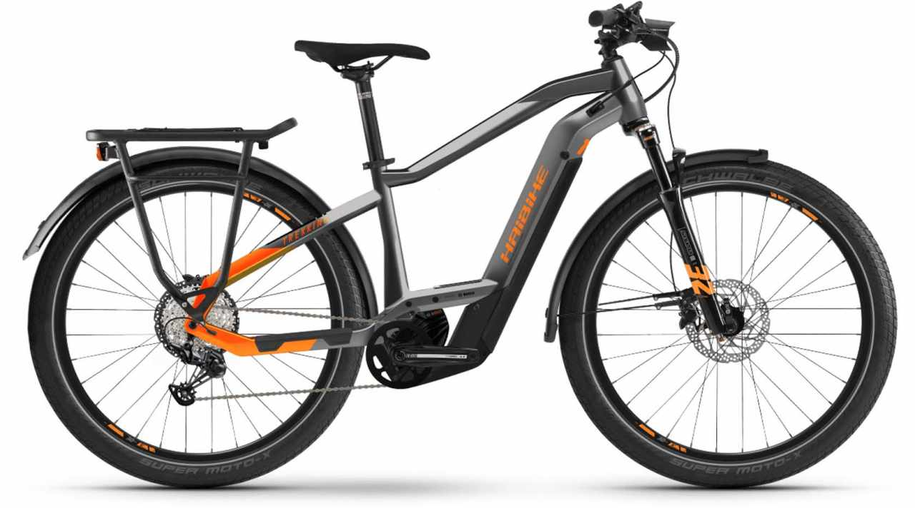 Haibike Trekking 10 i625Wh titan/lava matte 2021 - E-Bike Trekkingrad Herren