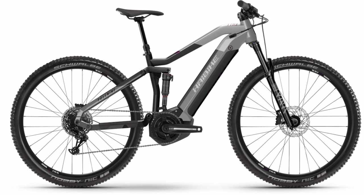 Haibike FullNine 7 i630Wh platin/anthracite 2021 - E-Bike Fully Mountainbike