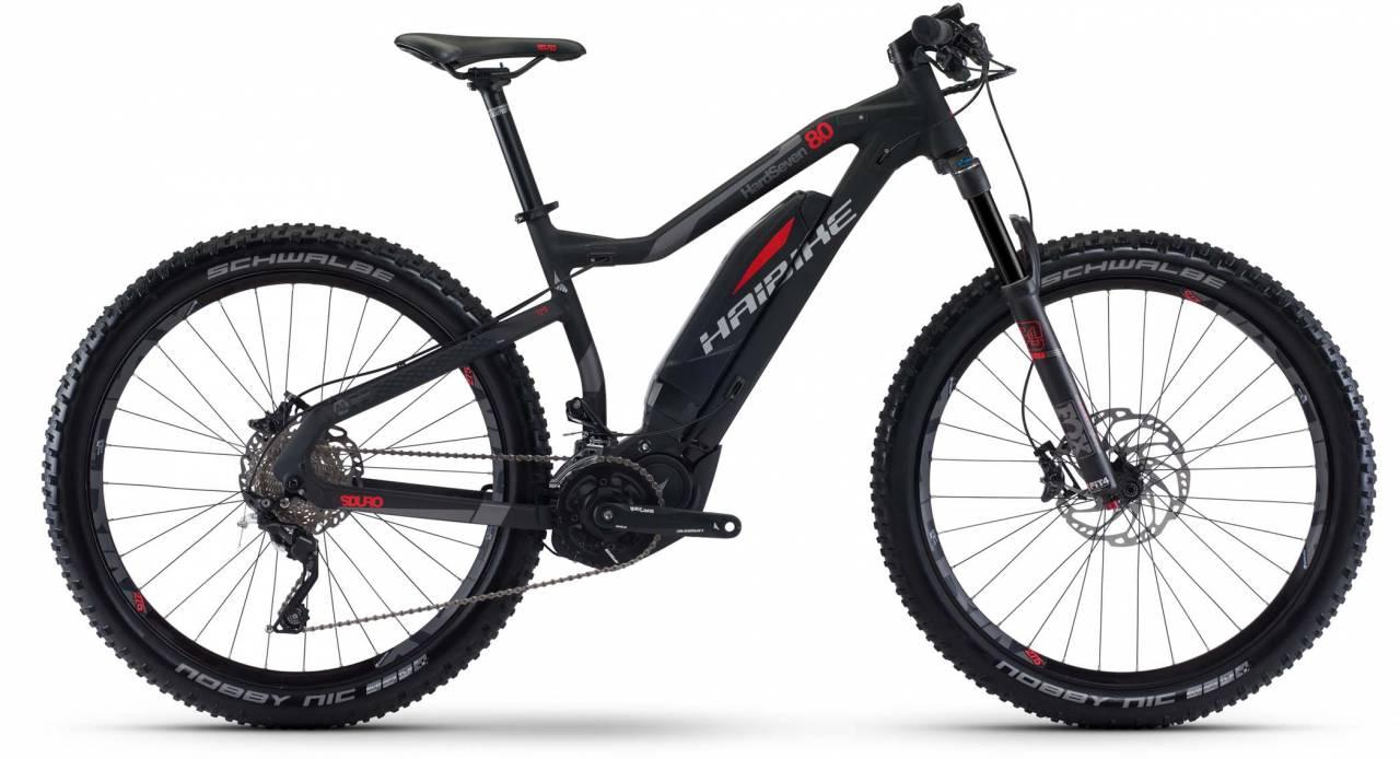 Haibike SDURO HardSeven 8.0 500Wh schwarz/rot/titan matt 2017 - E-Bike Hardtail Mountainbike