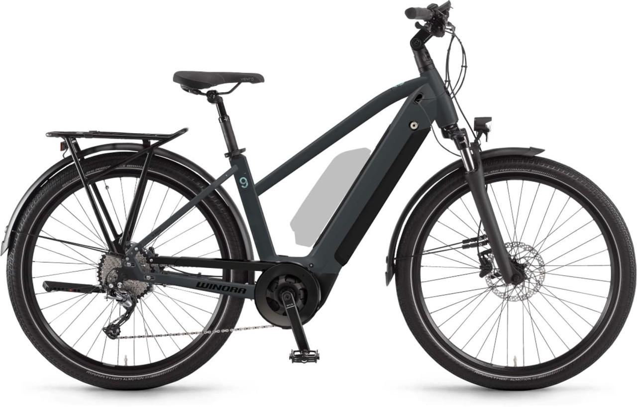 Winora Sinus 9 i625Wh darkslategrey matt 2021 - E-Bike Trekkingrad Damen