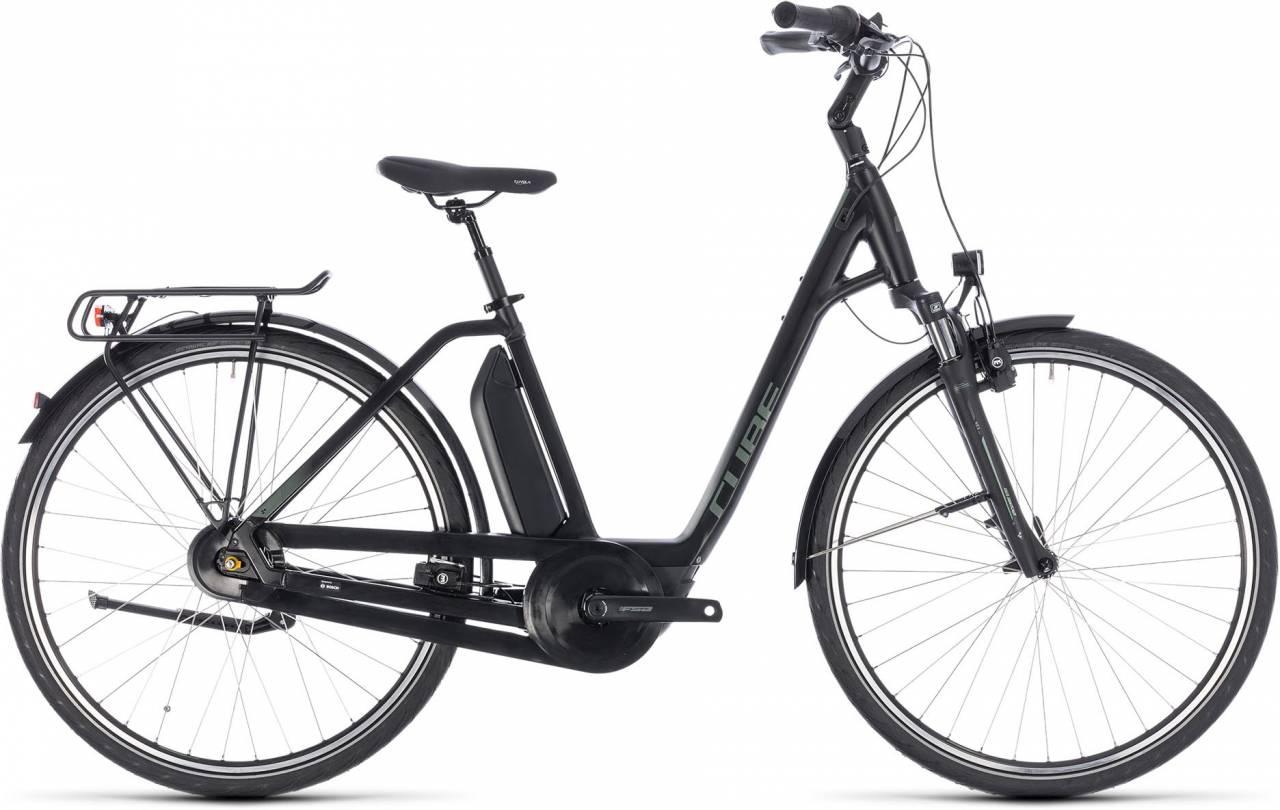 Cube Town Hybrid ONE 400 black n frostgreen 2018 - Tiefeinsteiger E-Bike Trekkingrad