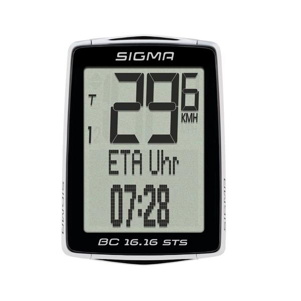 Sigma Fahrradcomputer BC 16.16 STS schwarz