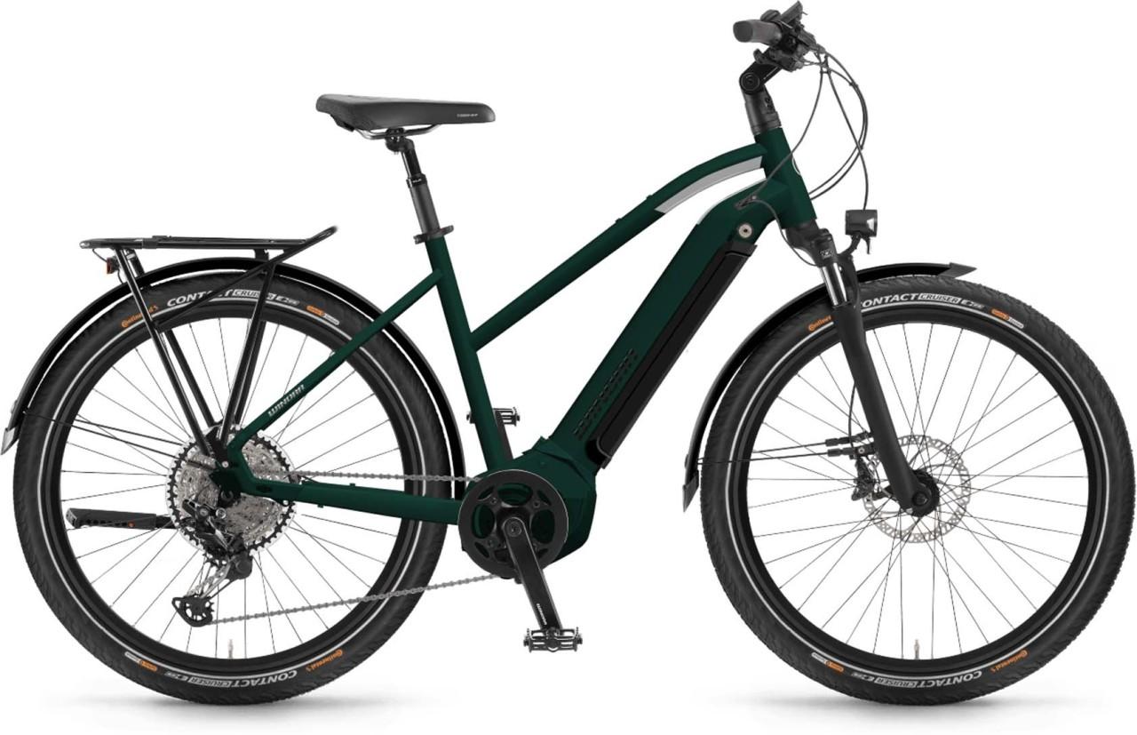 Winora Yucatan 10 i630Wh emerald matt 2021 - E-Bike Trekkingrad Damen