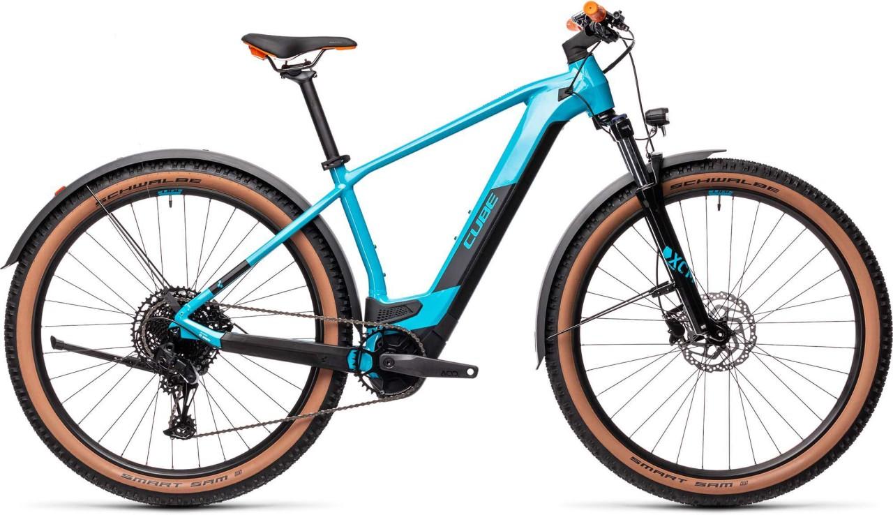 Cube Reaction Hybrid Pro 500 29 Allroad petrol n orange 2021 - E-Bike Hardtail Mountainbike