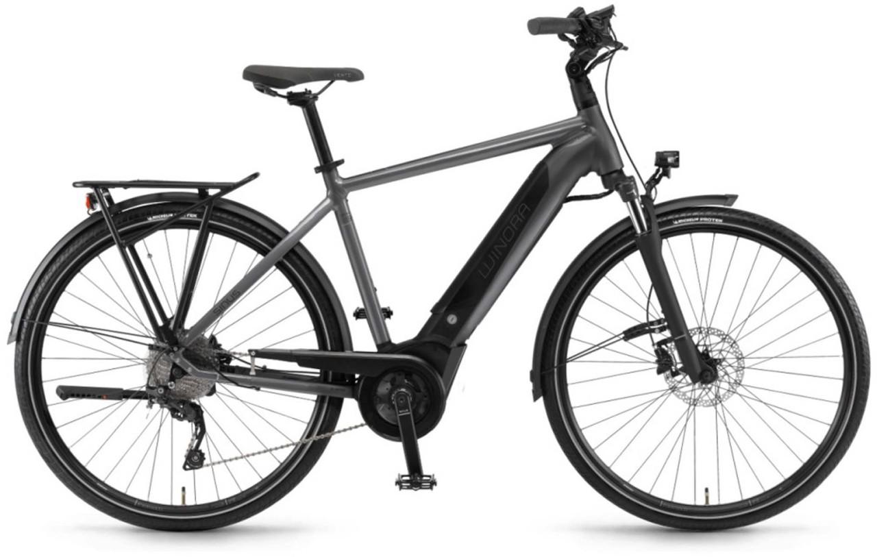 """Winora Sinus i9 500Wh 28"""" titan 2018 - Herren E-Bike Trekkingrad"""