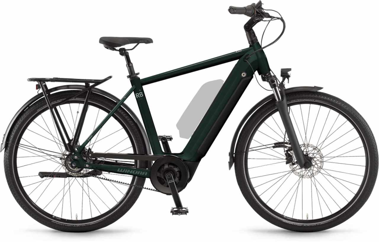 Winora Sinus R8f i625Wh shadowgreen 2021 - E-Bike Trekkingrad Herren