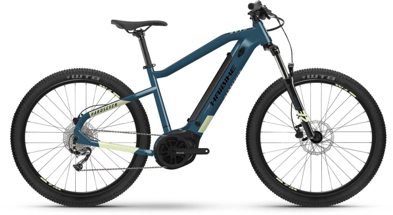 Haibike HardSeven 5 500Wh blue/canary 2021 - E-Bike Hardtail Mountainbike