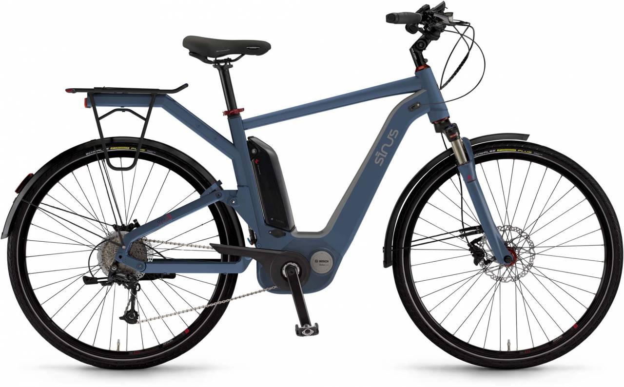 """Sinus Dyo9 500Wh 28"""" oceanblue matt 2017 - Herren E-Bike Trekkingrad"""