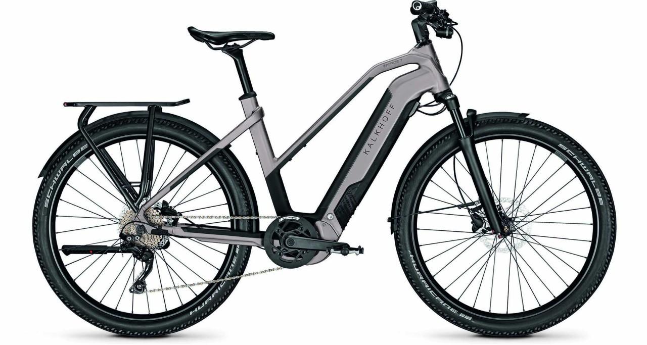 Kalkhoff Entice 7.B Move moonstonegrey/magicblack matt (Trapez) 2021 - E-Bike Trekkingrad Damen