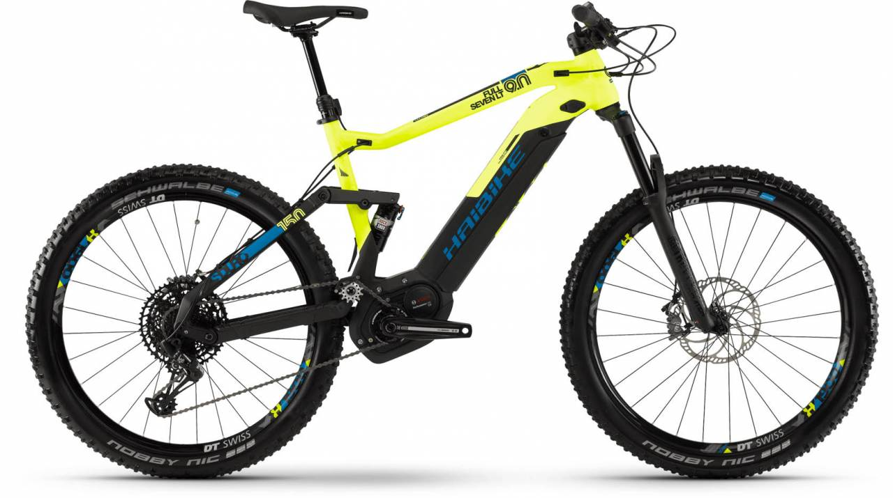Haibike SDURO FullSeven LT 9.0 i500Wh schwarz/gelb/blau matt 2019