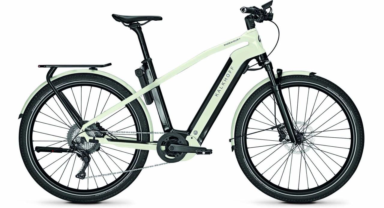 Kalkhoff Endeavour 7.B Advance magicblack/starwhite glossy (Diamond) 2021 - E-Bike Trekkingrad Herre
