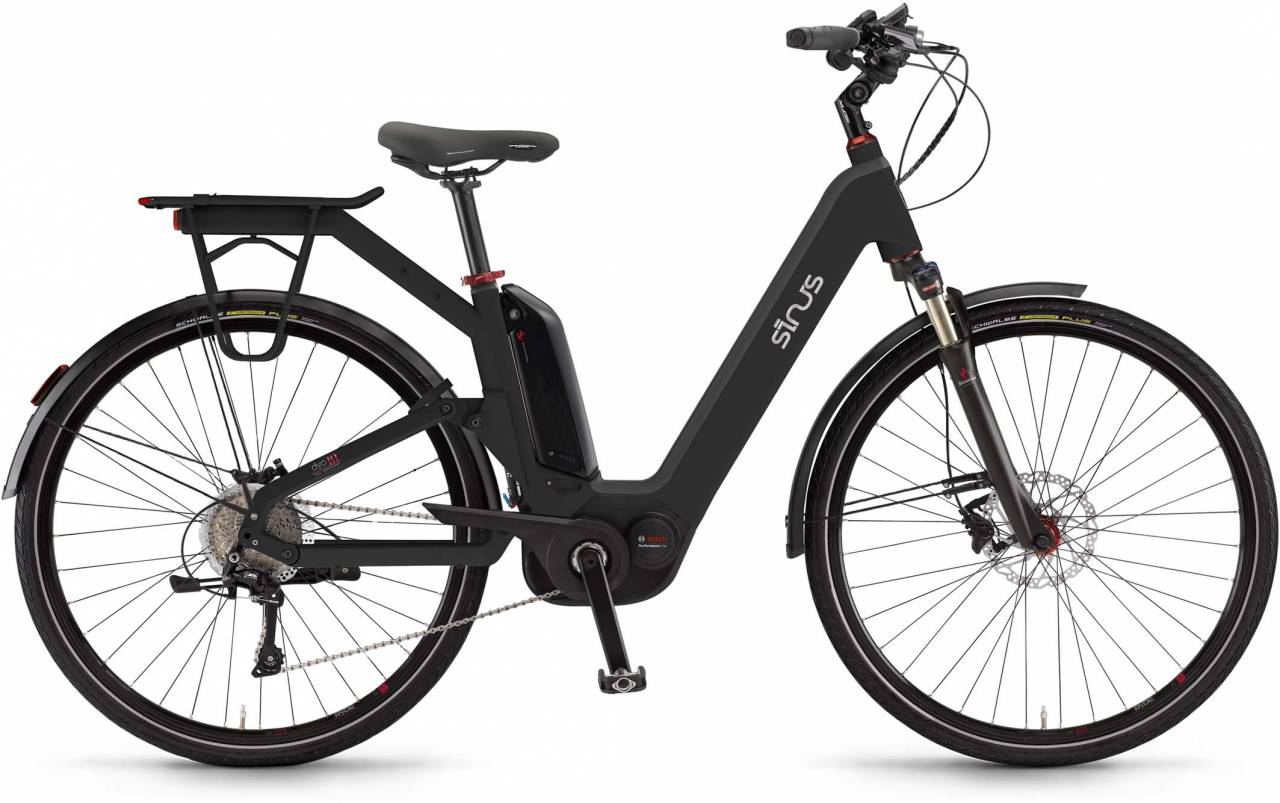 "Sinus Dyo10 500Wh 28"" pianoblack 2017 - Tiefeinsteiger E-Bike Trekkingrad"
