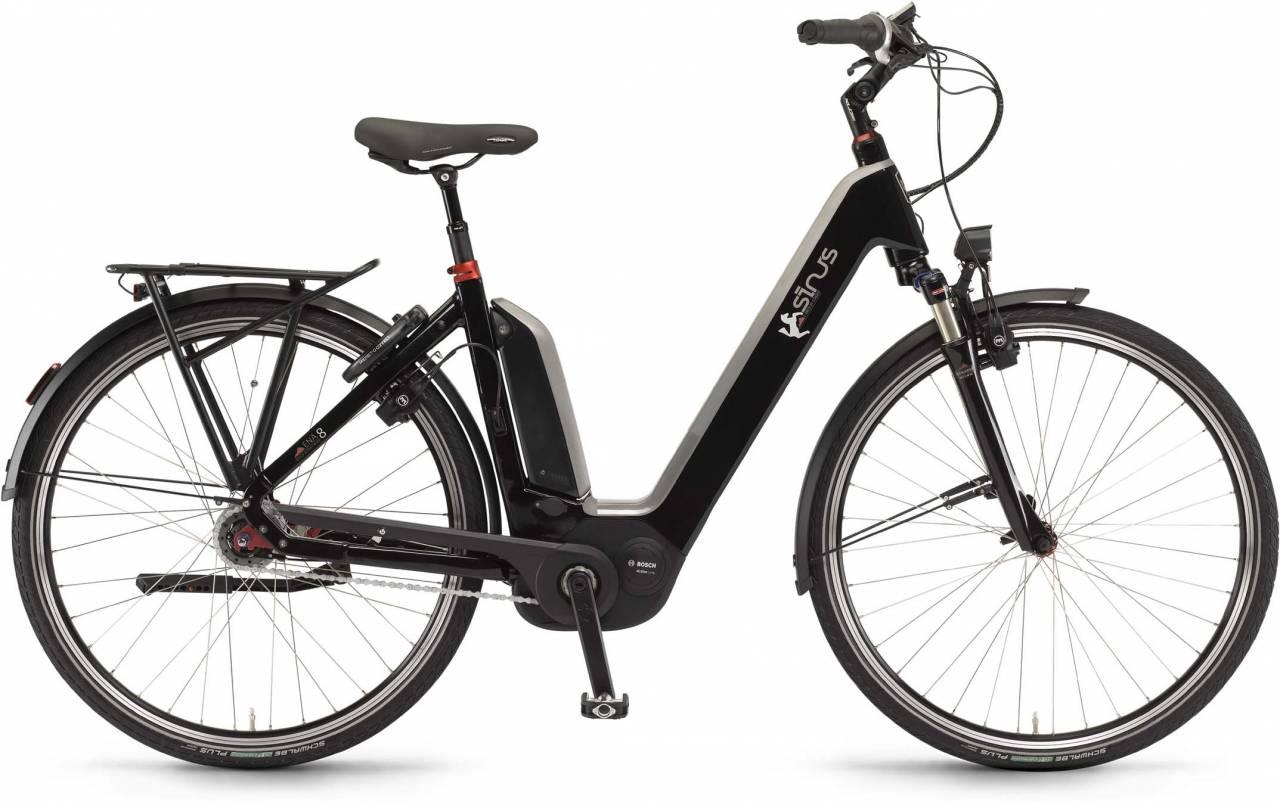 """Sinus Ena8 500Wh 28"""" RT schwarz 2017 - Tiefeinsteiger E-Bike Trekkingrad"""