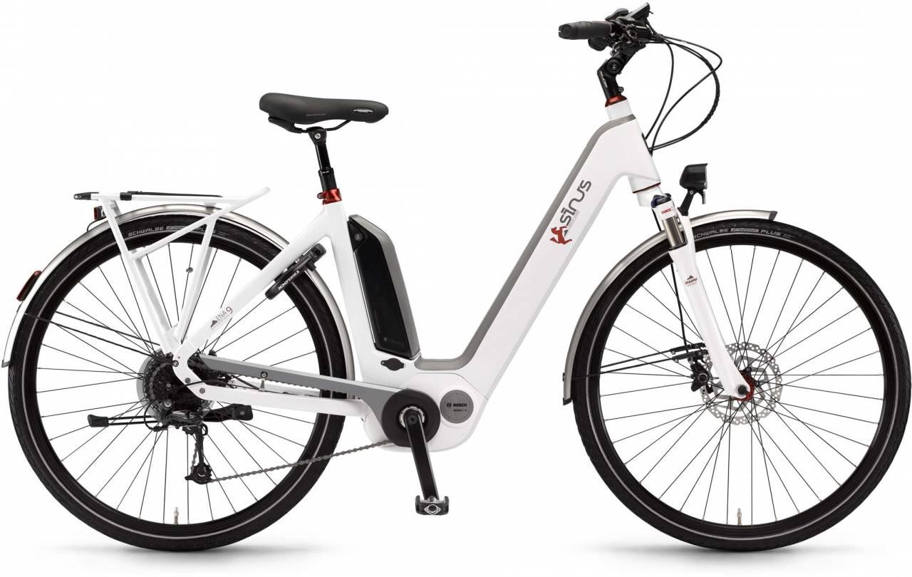 """Sinus Ena9 500Wh 28"""" weiß 2017 - Tiefeinsteiger E-Bike Trekkingrad"""