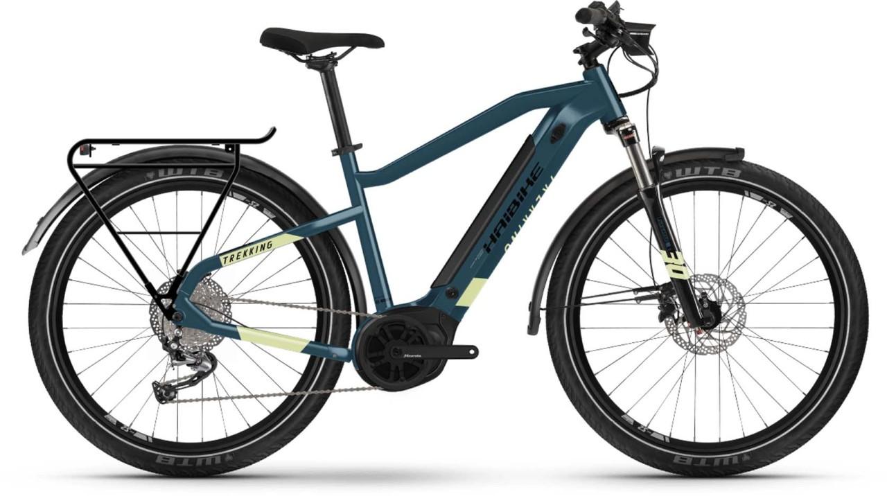 Haibike Trekking 5 i500Wh blue/canary 2021 - E-Bike Trekkingrad Herren