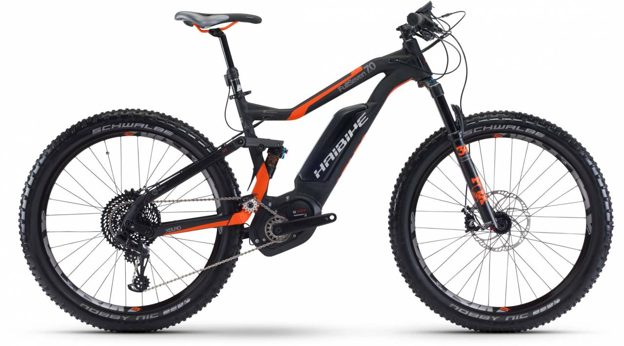 Haibike XDURO FullSeven 7.0 500Wh schwarz/rot/anthr. matt 2017 - E-Bike Fully Mountainbike