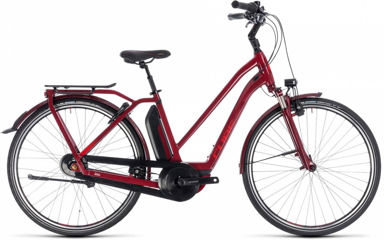 Cube Town Hybrid Pro 500 darkred n red 2018 - Damen Trapez E-Bike Trekkingrad