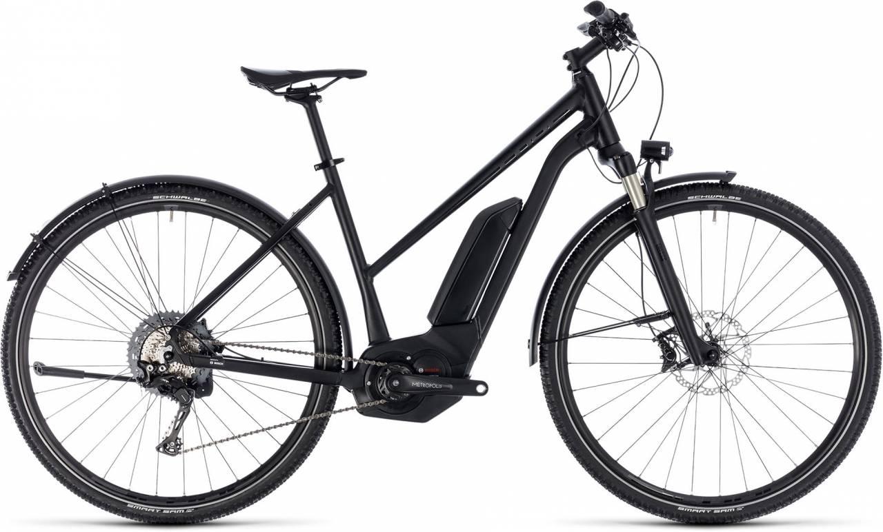Cube Cross Hybrid SL Allroad 500 black edition 2018 - Damen Trapez E-Bike Crossrad