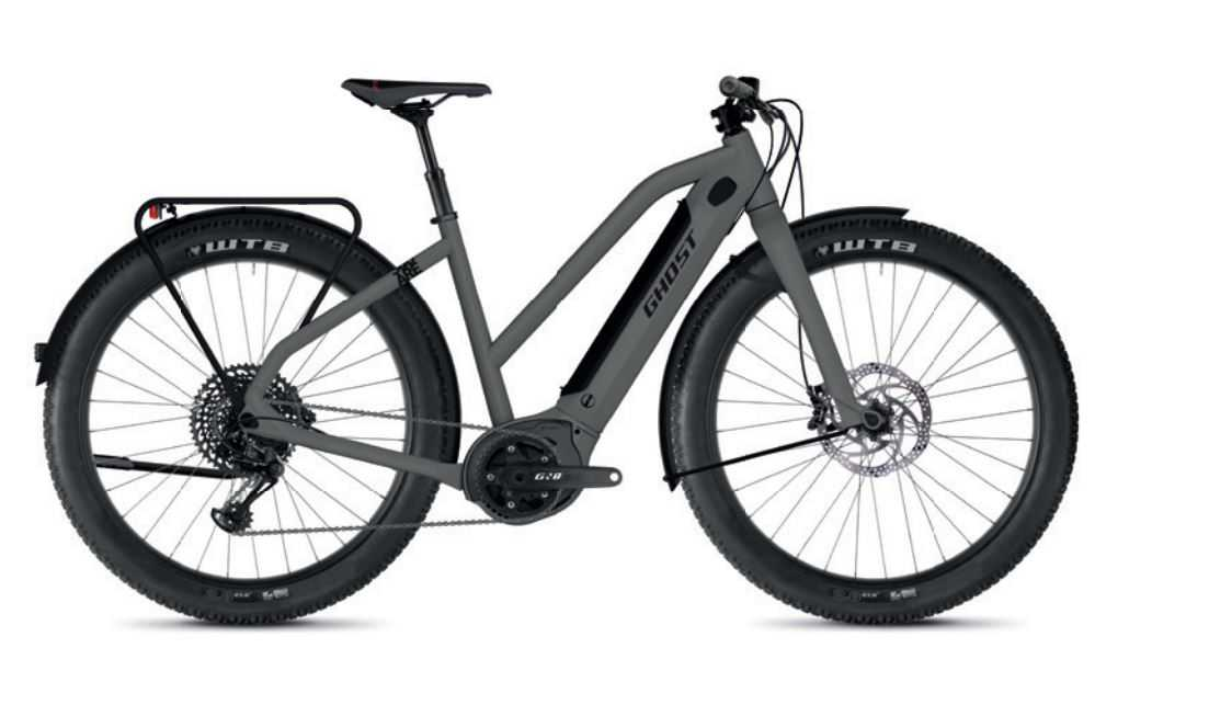 Ghost Hybride Square Travel B4.7+ AL W rock / jet black 2020 - E-Bike Trekkingrad Damen