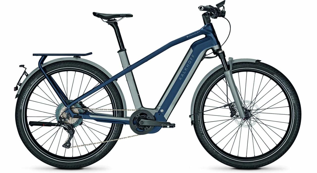 Kalkhoff Endeavour 7.B Excite 45km/h jetgrey/sydneyblue matt (Diamond) 2021 - E-Bike Trekkingrad Her