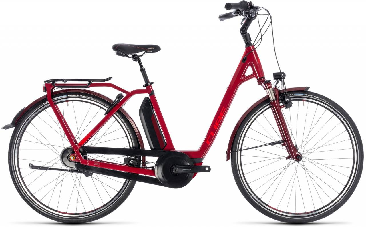 Cube Town Hybrid Pro 500 darkred n red 2018 - Tiefeinsteiger E-Bike Trekkingrad