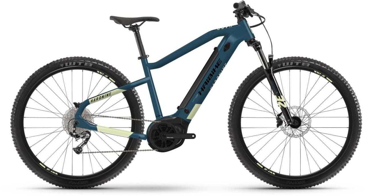 Haibike HardNine 5 500Wh blue/canary 2021 - E-Bike Hardtail Mountainbike