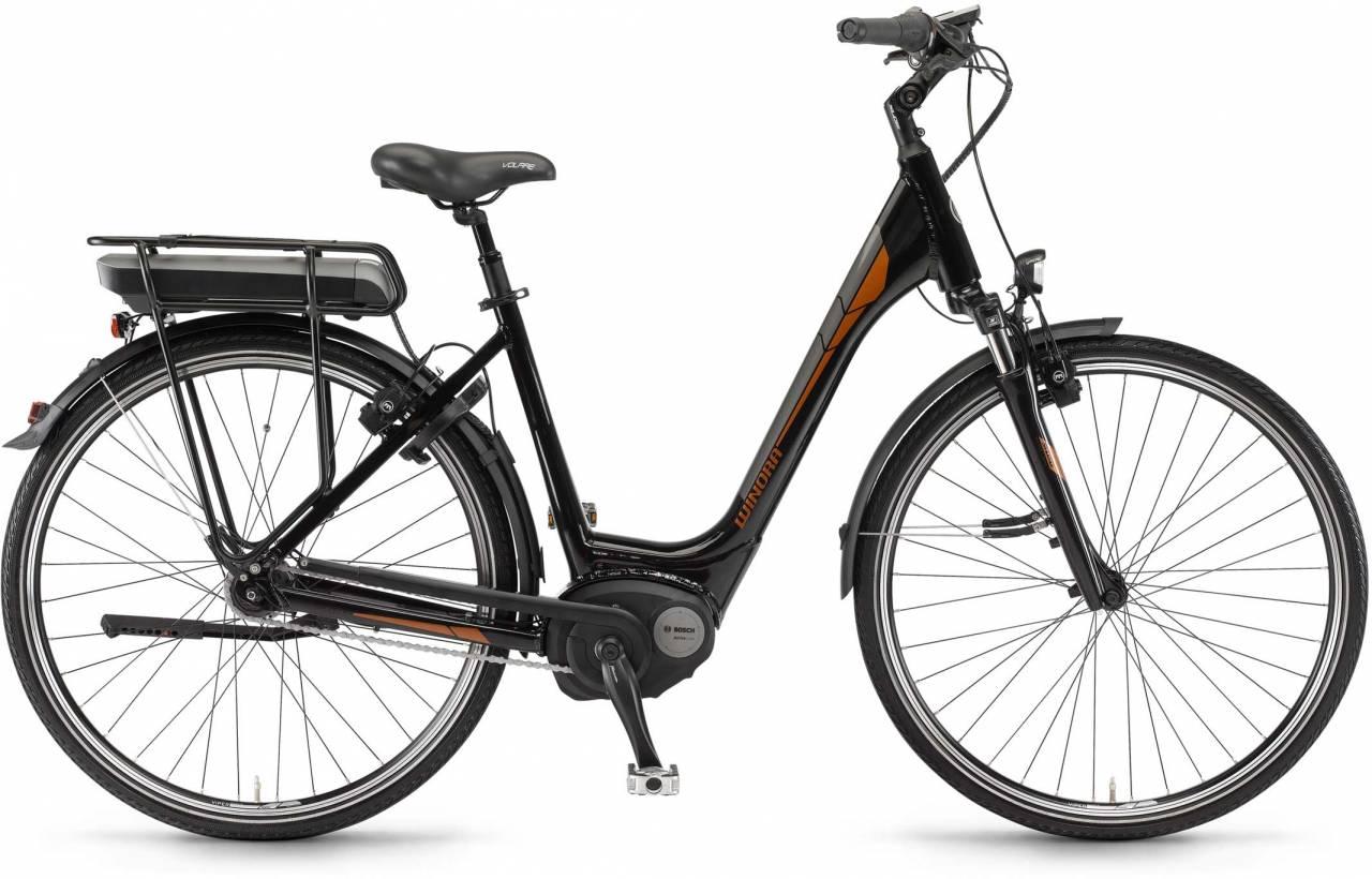 """Winora B270.C 400Wh 28"""" RT schwarz 2017 - Tiefeinsteiger E-Bike Trekkingrad"""