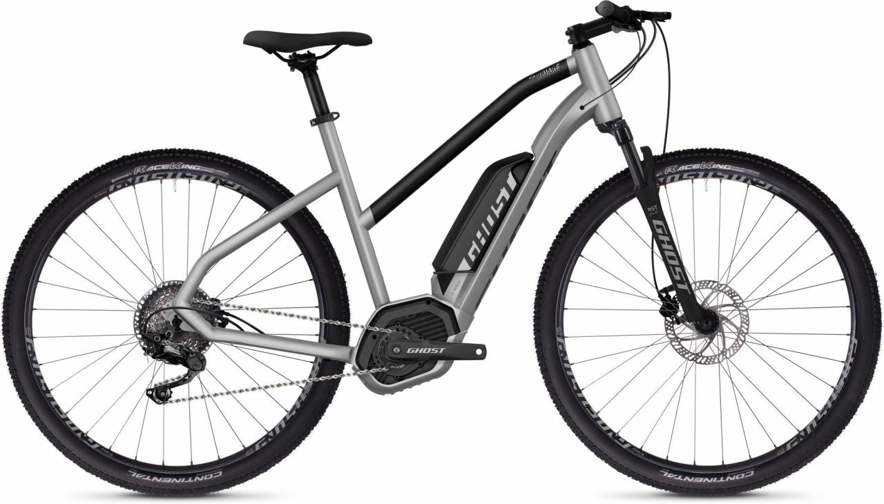 Ghost Hybride Square Cross B2.9 AL W iridium silver / jet black 2020 - E-Bike Crossrad Damen