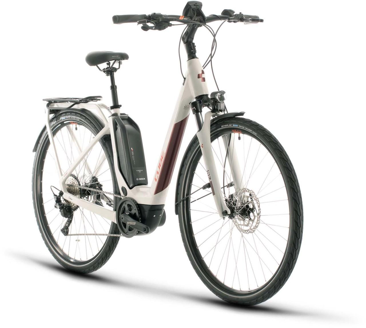 Cube Touring Hybrid Pro 500 grey n red 2020 - E-Bike Trekkingrad Tiefeinsteiger
