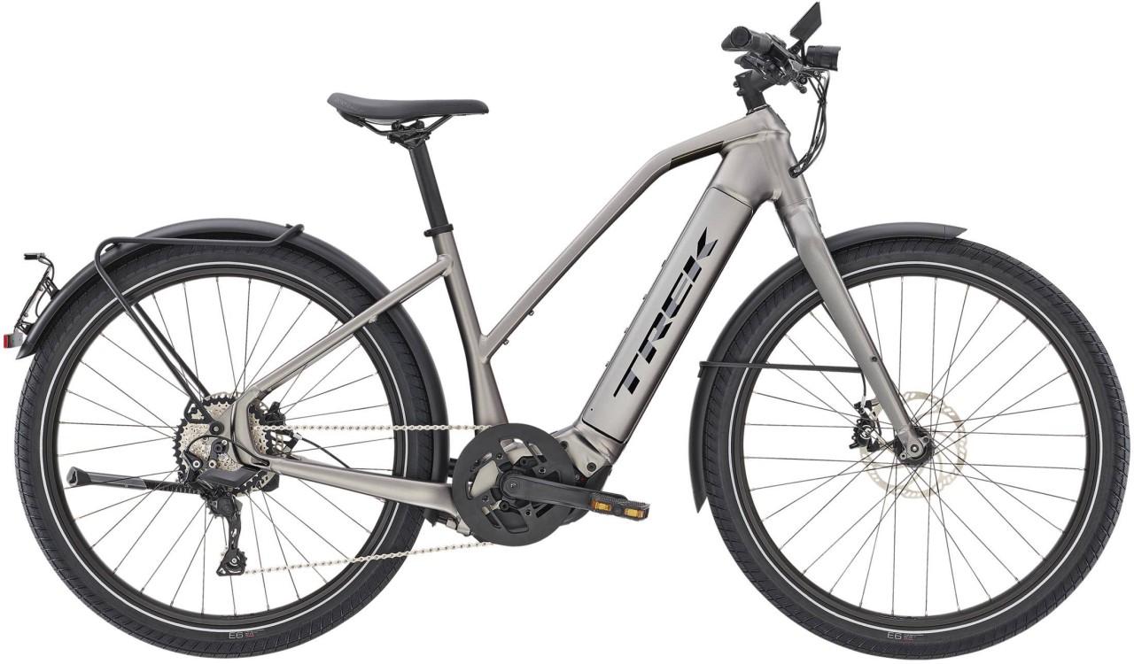 Trek Allant+ 8S Stagger Matte Gunmetal 45km/h 2021 - E-Bike Trekkingrad Damen