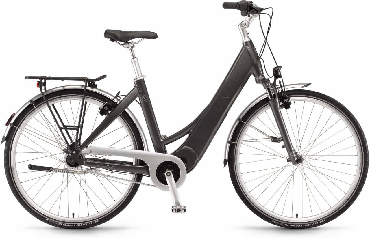 "Winora Manto M7 28"" RT 400Wh basaltgrau 2017 - Tiefeinsteiger E-Bike Trekkingrad"