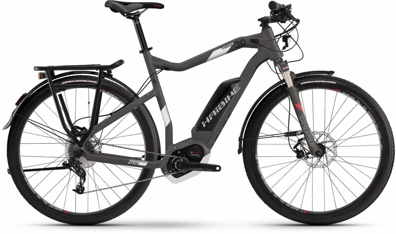 Haibike XDURO Trekking 3.0 500Wh titan/weiß/rot matt 2017 - Herren E-Bike Trekkingrad