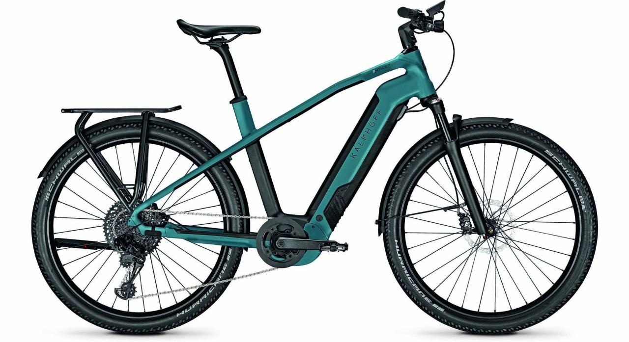 Kalkhoff Entice 7.B Advance topasblue/magicblack matt (Diamond) 2021 - E-Bike Trekkingrad Herren