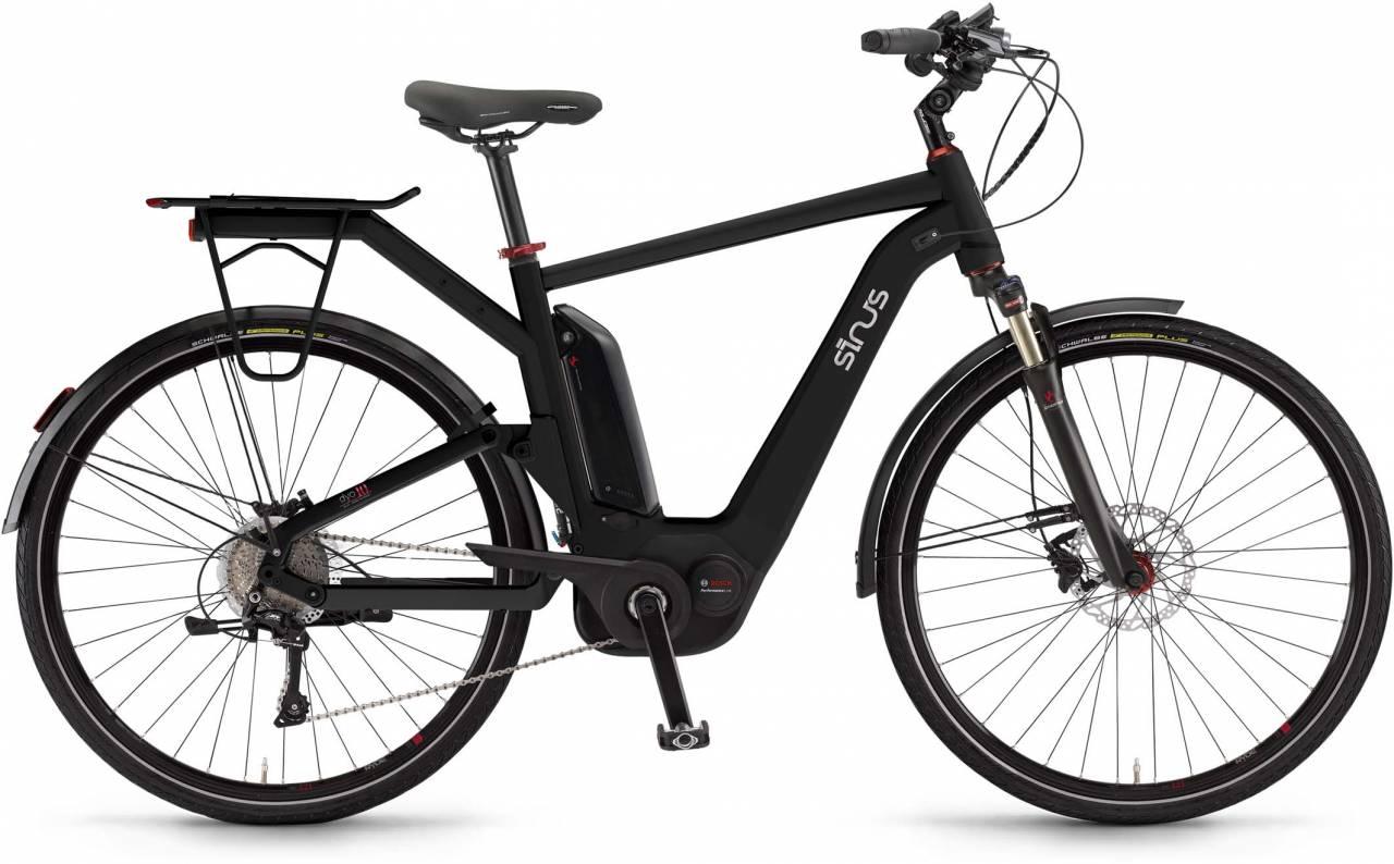 """Sinus Dyo10 500Wh 28"""" pianoblack 2017 - Herren E-Bike Trekkingrad"""