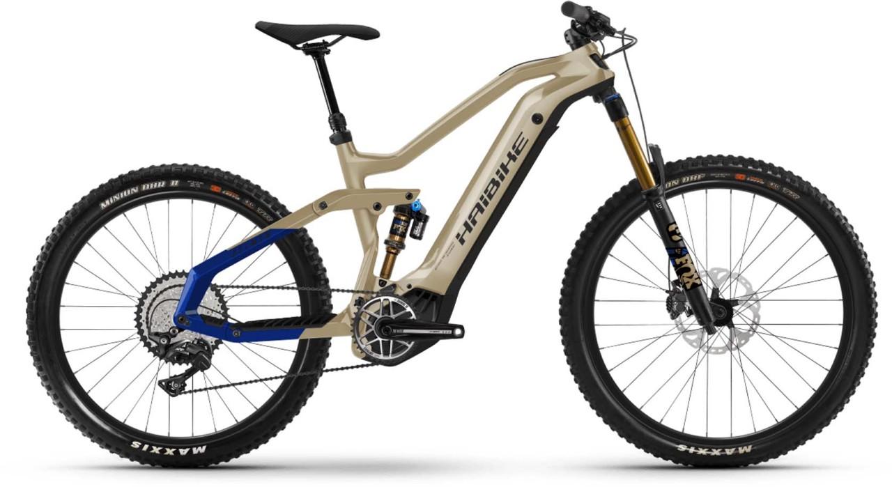 Haibike AllMtn 7 i600Wh coffee/black/blue 2021 - E-Bike Fully Mountainbike