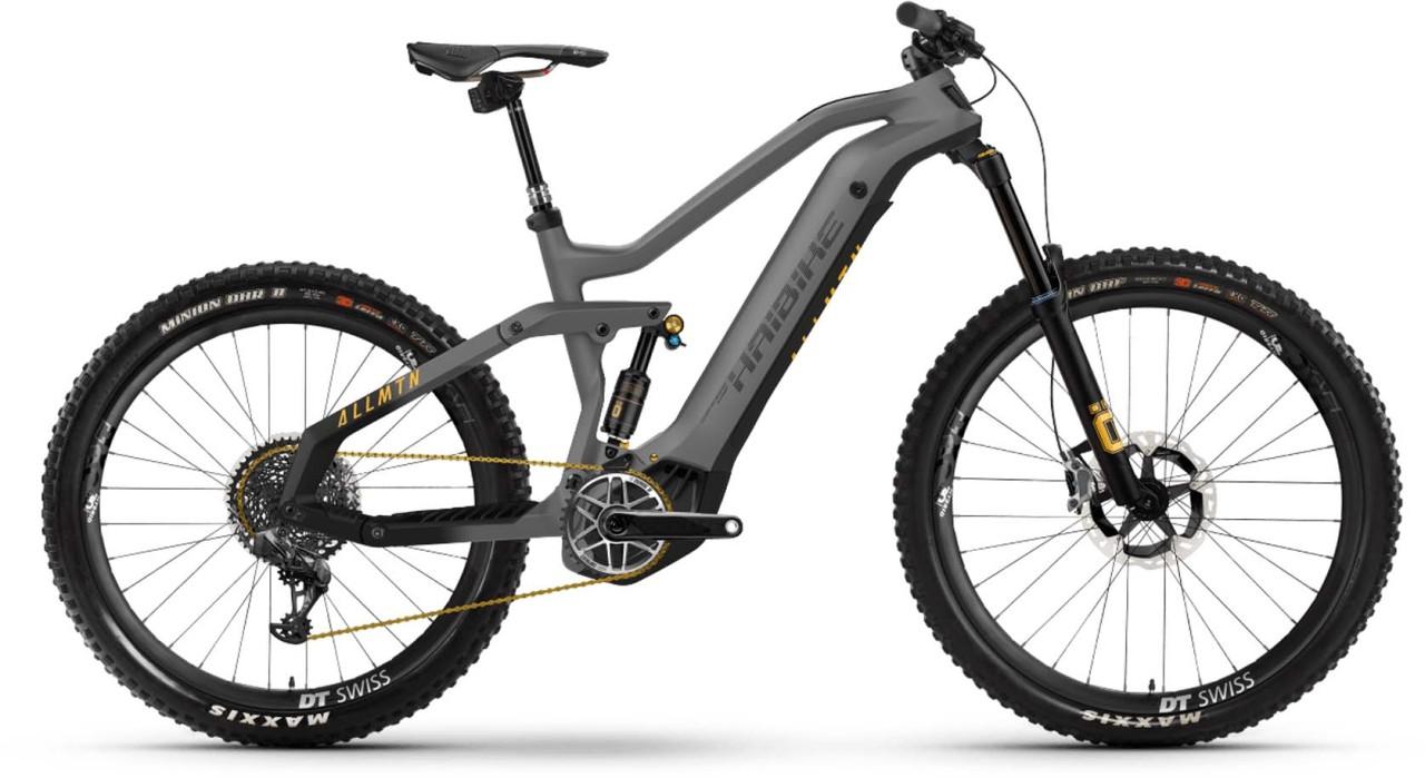 Haibike AllMtn SE i600Wh titan/black/yellow matte 2021 - E-Bike Fully Mountainbike