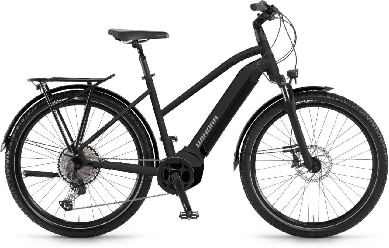 Winora Yucatan 12Pro i630Wh schwarz matt 2021 - E-Bike Trekkingrad Damen