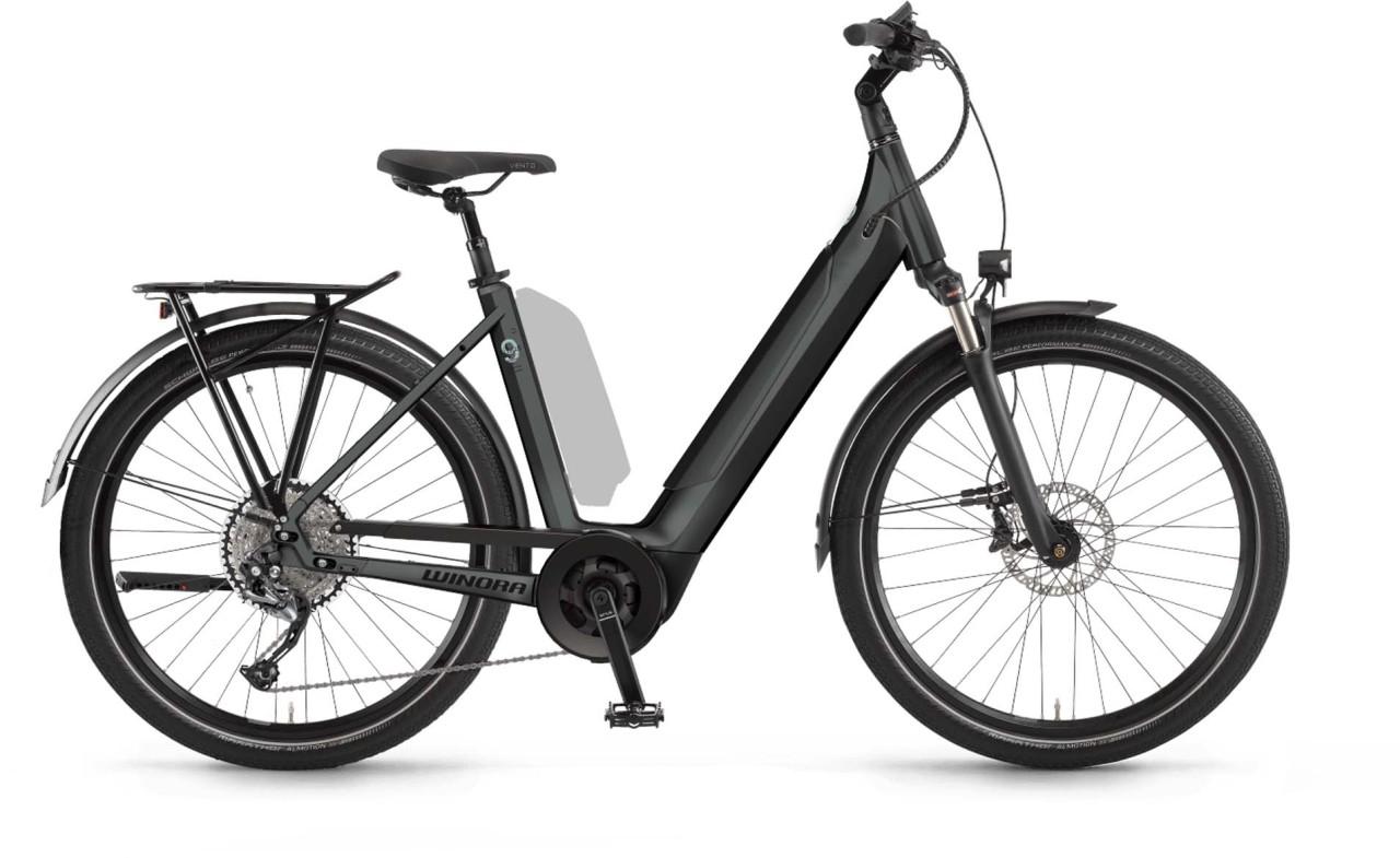 Winora Sinus 9 i625Wh darkslategrey matt 2021 - E-Bike Trekkingrad Tiefeinsteiger