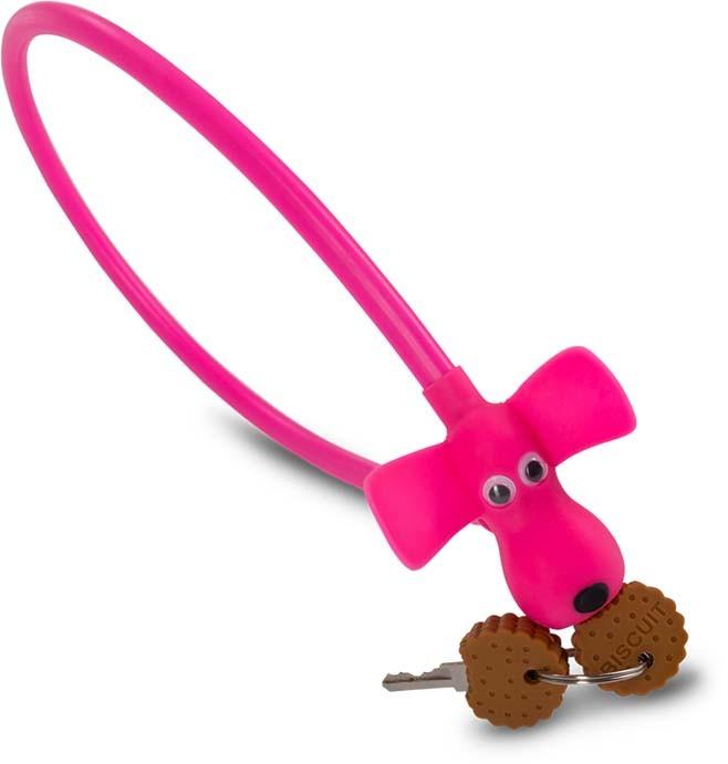 "RFR Kabelschloss HPS ""DOG"" 10 x 450 mm pink"