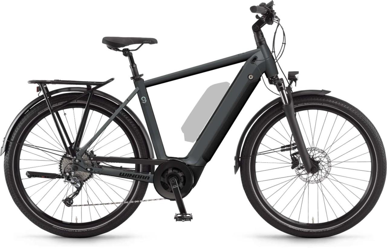 Winora Sinus 9 i625Wh darkslategrey matt 2021 - E-Bike Trekkingrad Herren